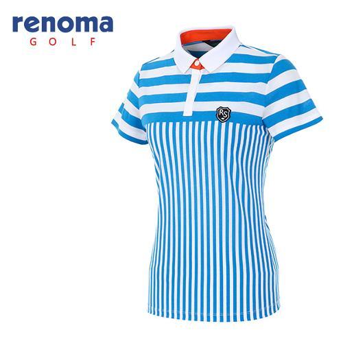 [레노마골프]여성 콤비 스트라이프 티셔츠 RATS86631-DB