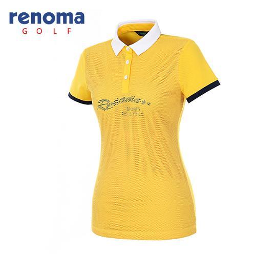 [레노마골프]여성 메쉬 오버레이 반팔 티셔츠 RATS94631-MS
