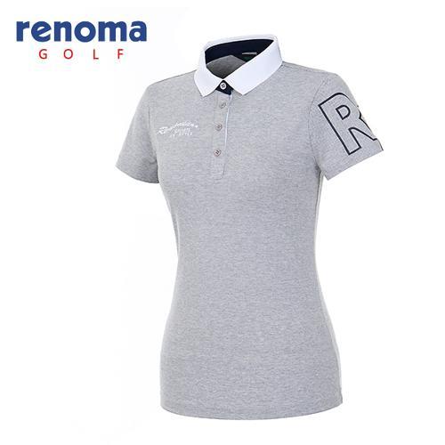 [레노마골프]여성 빅로고 슬리브 반팔 티셔츠 RATS71631-MG