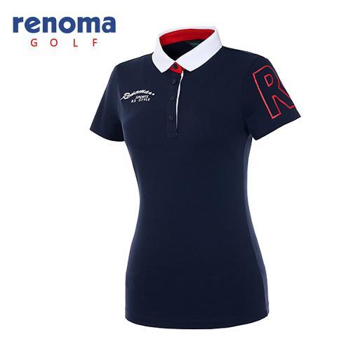 [레노마골프]여성 빅로고 슬리브 반팔 티셔츠 RATS71631-NY