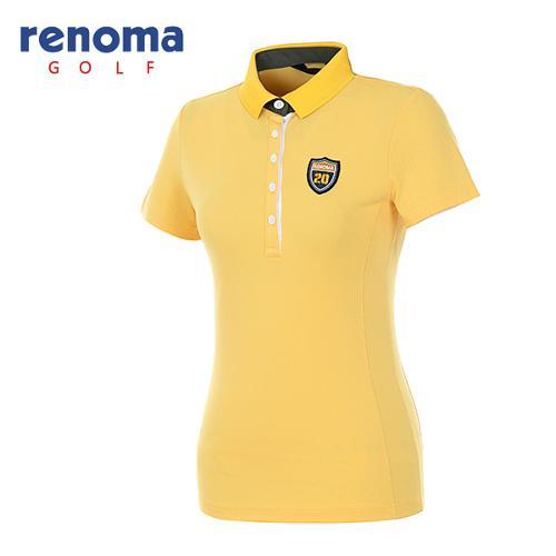[레노마골프]여성 와펜 로고 반팔 티셔츠 RATS77631-MS