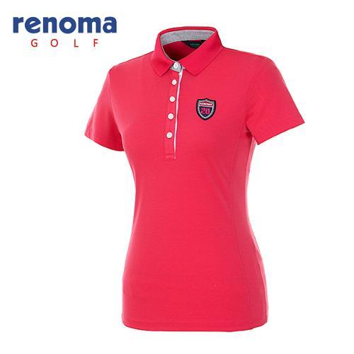 [레노마골프]여성 와펜 로고 반팔 티셔츠 RATS77631-HP