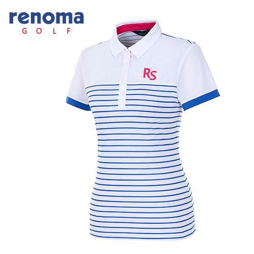 [레노마골프]여성 스트라이프 메쉬 반팔 티셔츠 RATS85631-RB