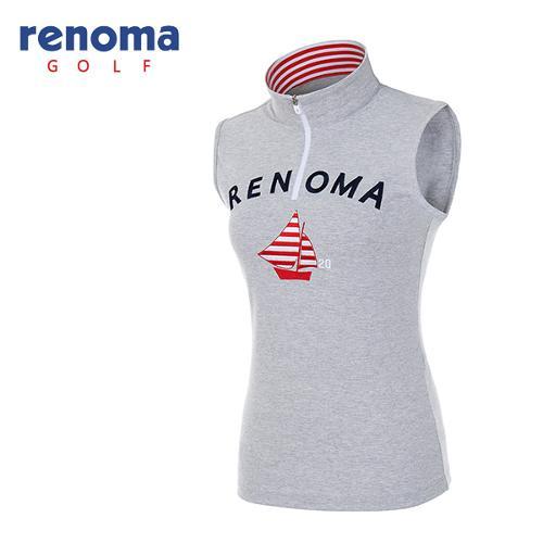 [레노마골프]여성 자수 로고 반집업 티셔츠 RATS98631-MG