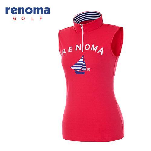 [레노마골프]여성 자수 로고 반집업 티셔츠 RATS98631-HP