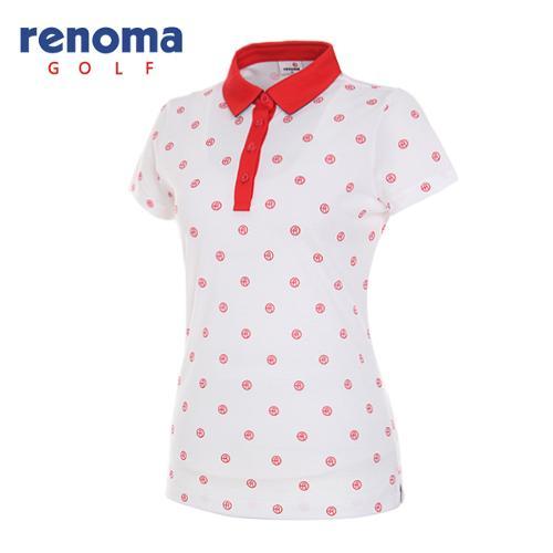 [레노마골프]여성 로고 도트 반팔 티셔츠 RWTYG6111-100