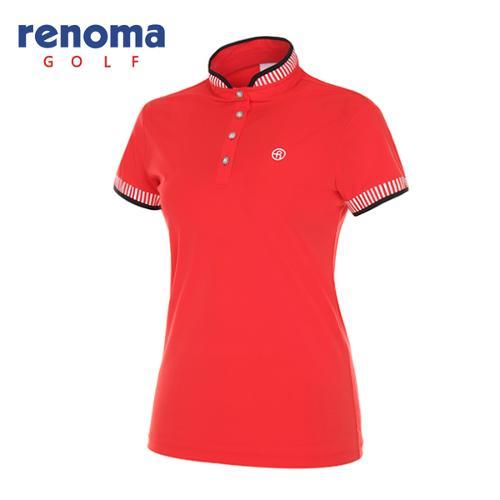 [레노마골프]여성 스탠드업 반소매 티셔츠 RWTSG6136-500