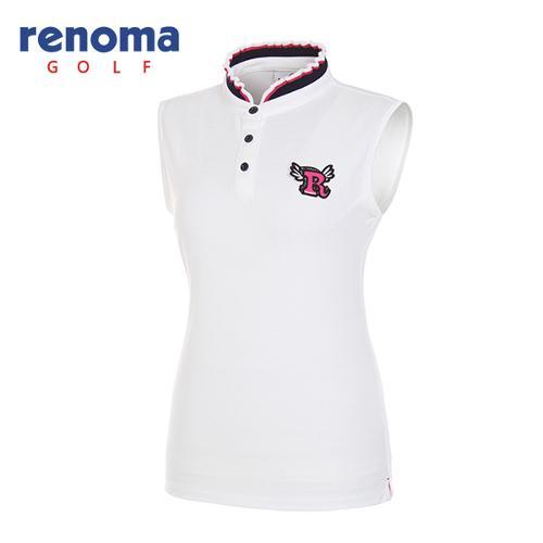 [레노마골프]여성 프릴 카라 민소매 티셔츠 RWTSG6118-100