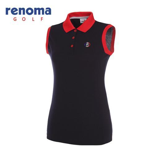[레노마골프]여성 스타일 배색 민소매 티셔츠 RWTSG6109-120