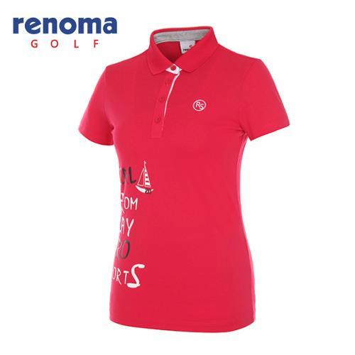 [레노마골프]여성 레터링 반팔 티셔츠 RWTPG6192-403