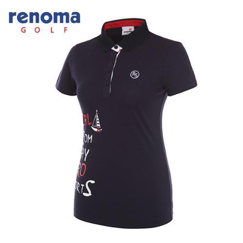 [레노마골프]여성 레터링 반팔 티셔츠 RWTPG6192-120