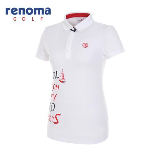 [레노마골프]여성 레터링 반팔 티셔츠 RWTPG6192-100