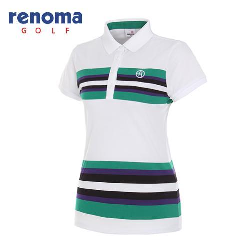 [레노마골프]여성 멀티 카라 반팔 티셔츠 RWTPG6102-100
