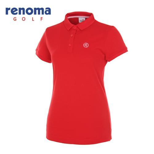 [레노마골프]여성 로고 카라 반팔 티셔츠 RWTPG6101-500