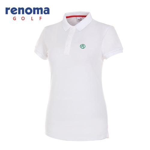 [레노마골프]여성 로고 카라 반팔 티셔츠 RWTPG6101-100
