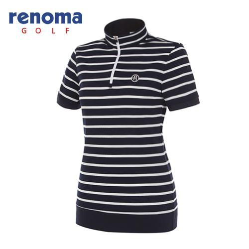 [레노마골프]여성 스트라이프 반팔 티셔츠 RWTHG6107-120