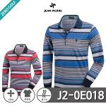 [JEAN PIERRE] 쟌피엘 블럭배색 스트라이프 PK 카라티셔츠 Model No_J2-0E018