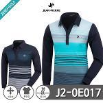 [JEAN PIERRE] 쟌피엘 포인트 컬러배색 로고 카라티셔츠 Model No_J2-0E017