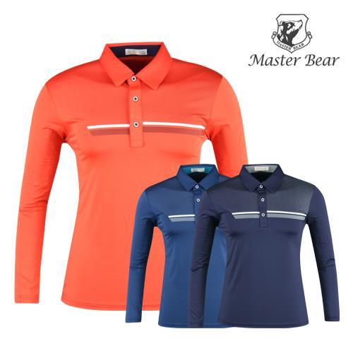 마스터베어 배색 선포인트 골프셔츠 AE20S403