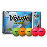 VOLVIK CRYSTAL 볼빅 크리스탈 3피스 골프공 5종택1