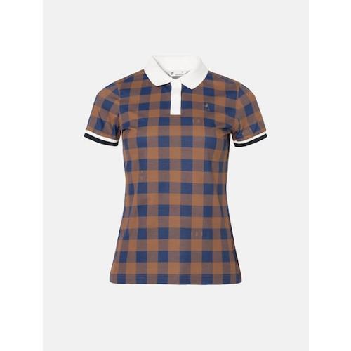 [빈폴골프] 여성 브릭 깅엄체크 칼라 티셔츠 (BJ0342A19C)