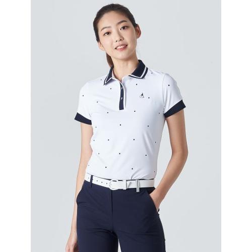 [빈폴골프] 여성 화이트 스퀘어 올오버 칼라 티셔츠 (BJ0442A291)