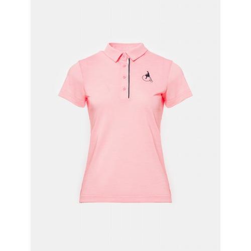 [빈폴골프] 여성 핑크 에센셜 빅로고 칼라 티셔츠 (BJ0342A23X)