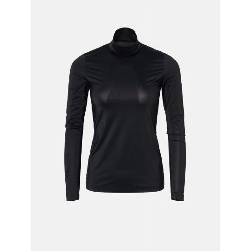 [빈폴골프] [NDL라인] 여성 블랙 쿨스킨 하이넥 냉감 티셔츠 (BJ0241L405)