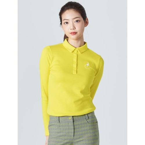[빈폴골프] 여성 옐로우 투톤 피케 칼라 티셔츠 (BJ0141A05E)
