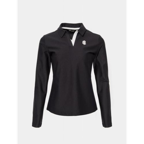[빈폴골프] 여성 블랙 배색 변형 칼라 티셔츠 (BJ0241L435)