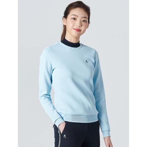 [빈폴골프] 여성 스카이 블루 니트 립 스웨트 셔츠 (BJ0241A11Q)