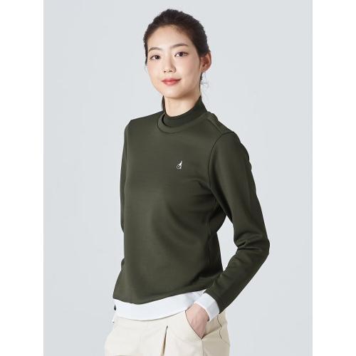 [빈폴골프] 여성 카키 니트 립 스웨트 셔츠 (BJ0241A11H)