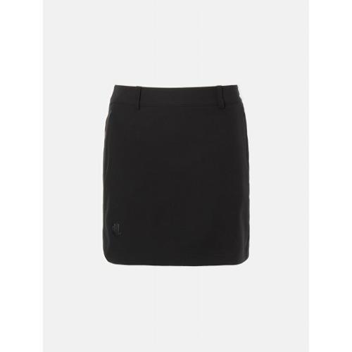[빈폴골프] [NDL라인] 여성 블랙 솔리드 세미 A라인 큐롯 (BJ0226L435)