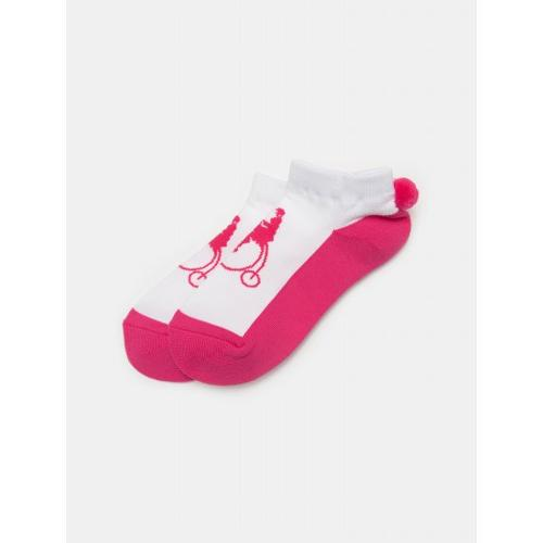 [빈폴골프] 여성 핑크 폼폼 앵클릿 삭스 (BJ01KTA05X)