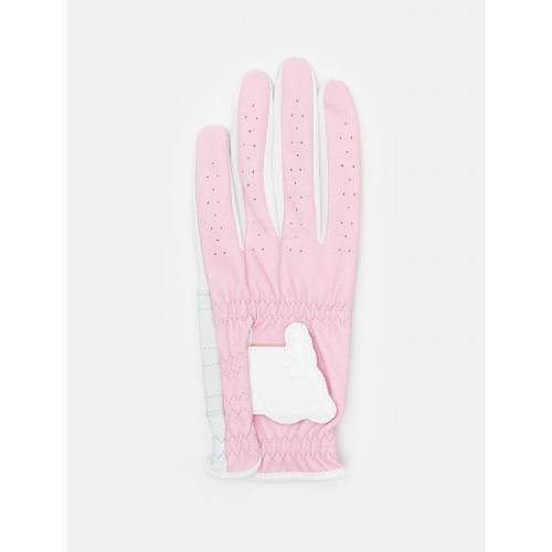 [빈폴골프] 여성 핑크 배색 자전거 반양피 장갑 (BJ0287A01X)