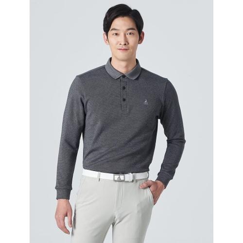 [빈폴골프] 남성 네이비 투톤 솔리드 칼라 티셔츠 (BJ0141B07R)