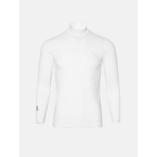 [빈폴골프] [NDL라인] 남성 화이트 쿨스킨 하이넥 냉감 티셔츠 (BJ0241M401)