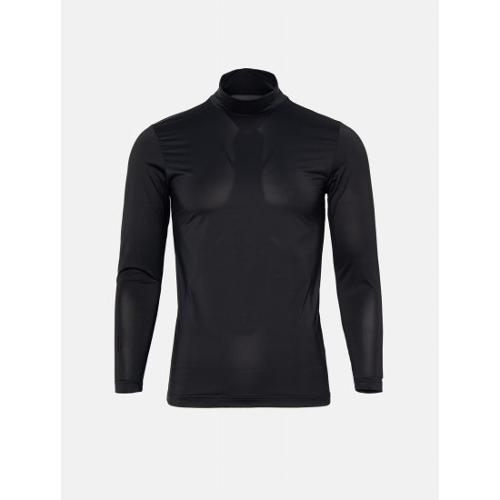 [빈폴골프] [NDL라인] 남성 블랙 쿨스킨 하이넥 냉감 티셔츠 (BJ0241M405)