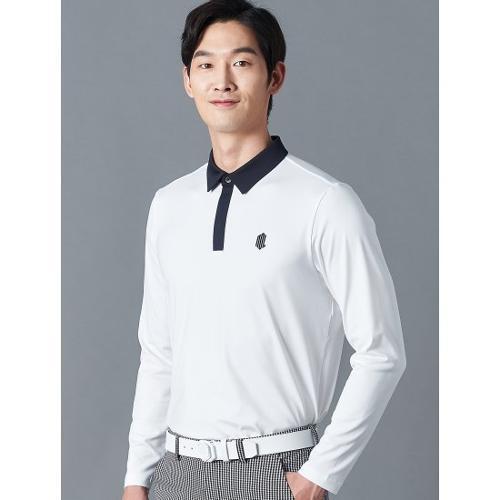 [빈폴골프] [NDL라인] 남성 화이트 백 라인 테이프 칼라 티셔츠 (BJ0241M431)