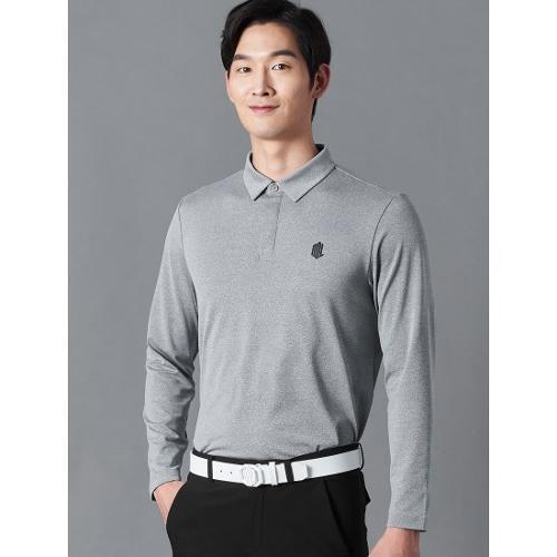 [빈폴골프] [NDL라인] 남성 그레이 백 라인 테이프 칼라 티셔츠 (BJ0241M433)