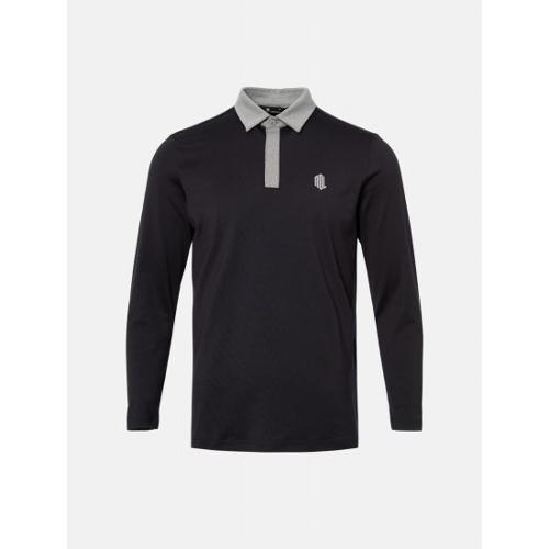 [빈폴골프] [NDL라인] 남성 블랙 백 라인 테이프 칼라 티셔츠 (BJ0241M435)