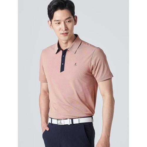[빈폴골프] 남성 브릭 투톤 텍스처 칼라 티셔츠 (BJ0342B20C)