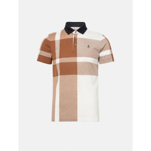 [빈폴골프] 남성 브릭 클래식 체크 칼라 티셔츠 (BJ0342B22C)