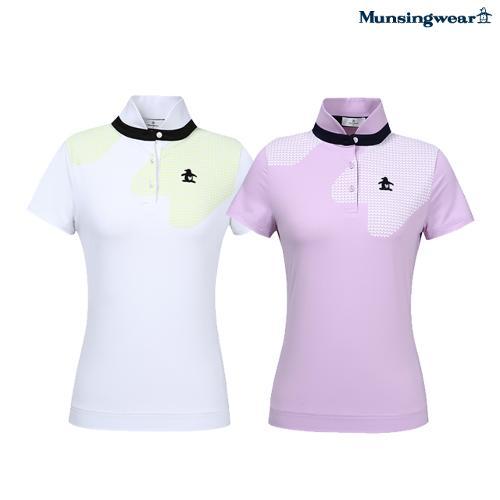 [먼싱웨어] 여성 반짚형 냉감 반팔 티셔츠 (M0222LTS4A)