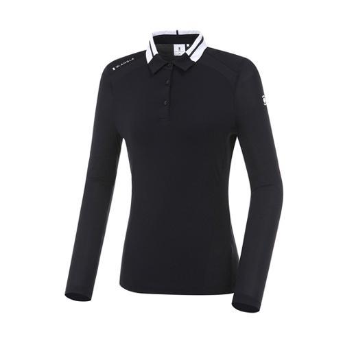 [와이드앵글] 여성 플레그 라인 긴팔 티셔츠(W.ICE) L WWM20202Z1