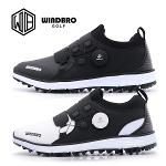 [명품수제화]WINDBRO 윈드브로 스파이크리스 프리미엄 남/여 보아형 골프화(B-01 B-RUNNER BLACK/WHITE)