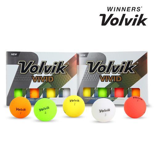 [바겐쎄일][볼빅 정품] NEW VIVID 비비드 레인보우 무광 골프공 혼합 컬러_3피스