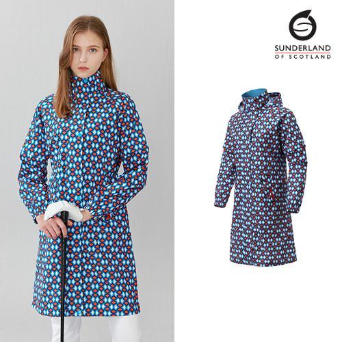 선덜랜드 여성 심실링 라글랑 단풍 비옷 - 16052RC22