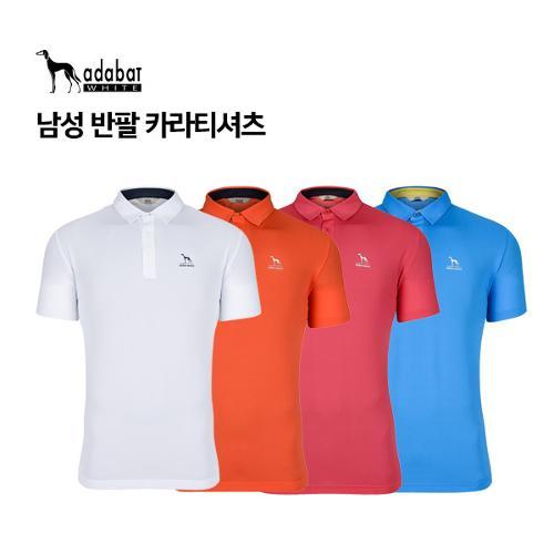 [아다바트 화이트] 남성 반팔카라티셔츠 A8M-MTS142 골프의류