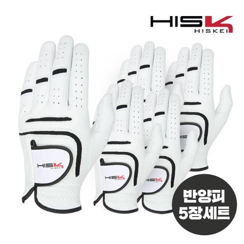 [지브이투어 정품] 히스케이 2020년 신제품 HSK 반양피 장갑_5 장 1팩